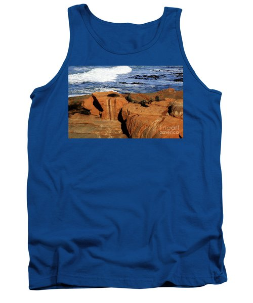 The Lazy Lounging Seals Tank Top