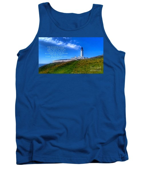 The Lighthouse On The Mull With Poem Tank Top