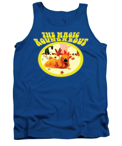 The Magic Roundabout Retro Design Hippy Design 60s And 70s Tank Top by Paul Telling