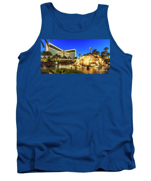 The Mirage Casino And Volcano At Dusk Tank Top