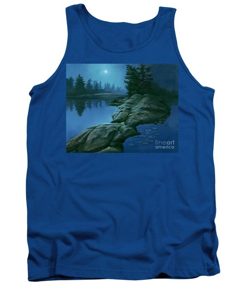 The Moonlight Hour Tank Top by Michael Swanson