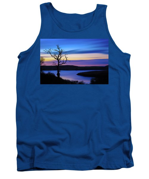 Tank Top featuring the photograph The Naked Tree At Sunrise by Semmick Photo