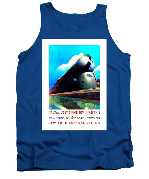 The New 20th Century Limited New York Central System 1939 Leslie Ragan Tank Top by Peter Gumaer Ogden Collection