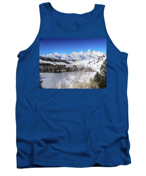 The Tetons From Gros Ventre Valley Tank Top