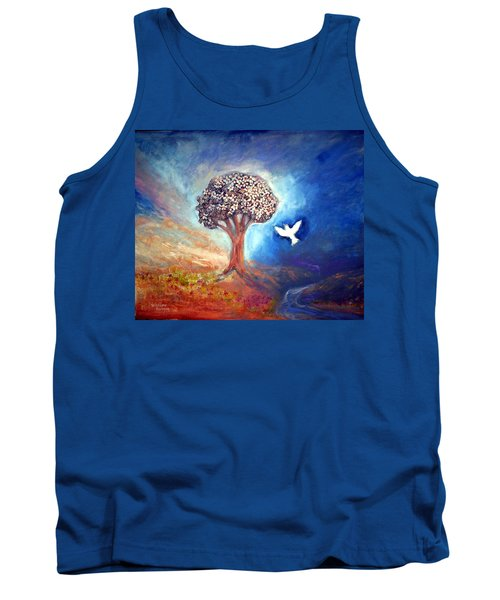 Tank Top featuring the painting The Tree by Winsome Gunning
