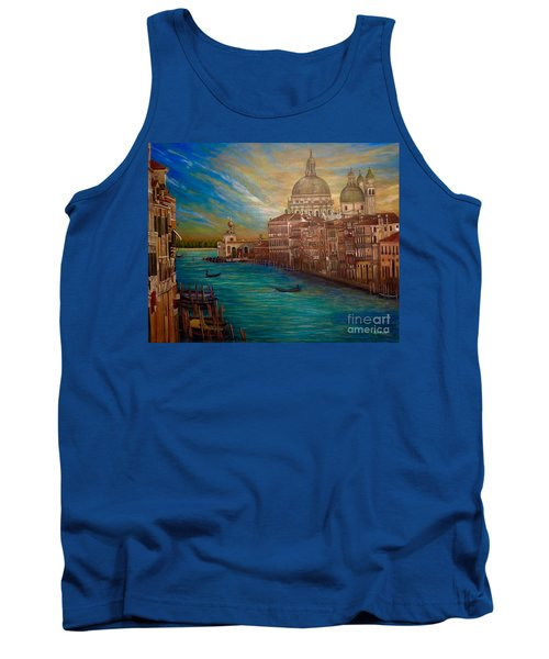 The Venice Of My Recollection With Digital Enhancement Tank Top by Kimberlee Baxter
