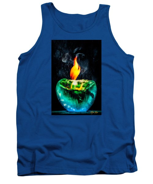Tank Top featuring the photograph The Winter Of Fire And Ice by Rikk Flohr