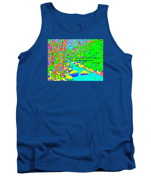 This World Is But A Canvas Tank Top by Deborah Dendler