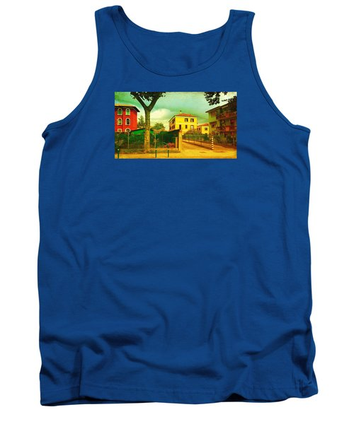 Tank Top featuring the photograph The Yellow House by Anne Kotan