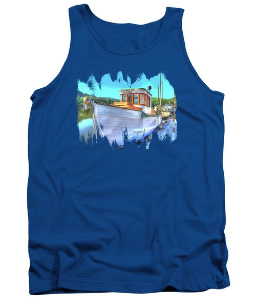 Thee Old Dragger Boat Tank Top