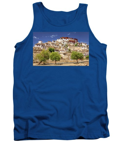 Tank Top featuring the photograph Thikse Monastery by Alexey Stiop