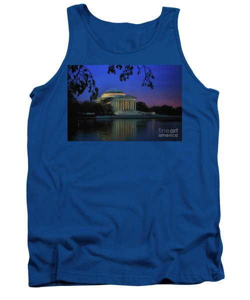 Thomas Jefferson Memorial Sunset Tank Top