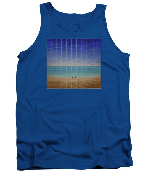 Three Beach Umbrellas Tank Top