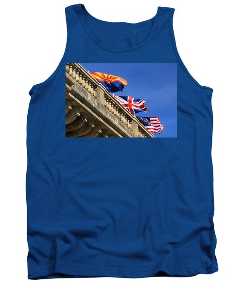 Three Flags At London Bridge Tank Top