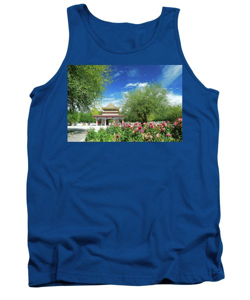 Tibet Scenery In Autumn Tank Top