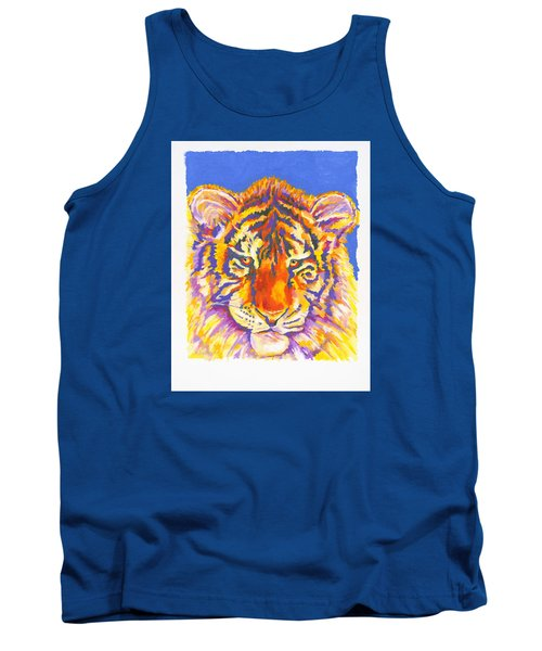 Tank Top featuring the painting Tiger by Stephen Anderson