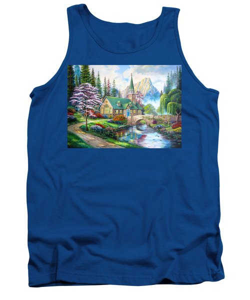 Tank Top featuring the painting Time To Come Home by Karen Showell