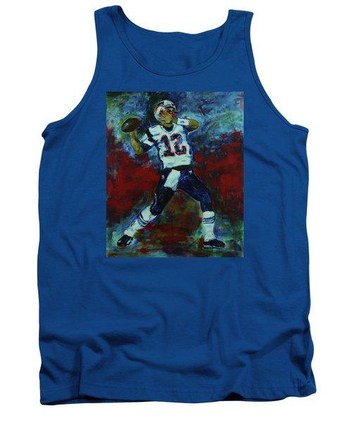 Tom Brady - Patriot Football Tank Top by Walter Fahmy