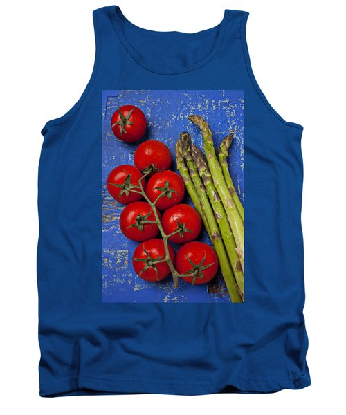 Tomatoes And Asparagus  Tank Top by Garry Gay
