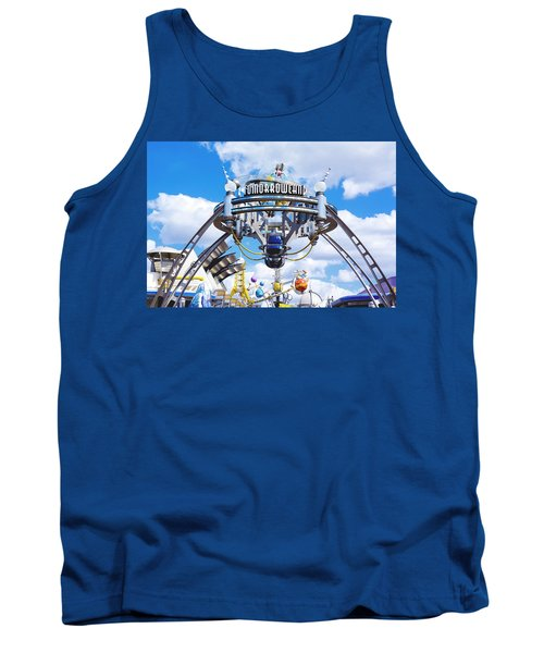 Tank Top featuring the photograph Tomorrowland by Greg Fortier