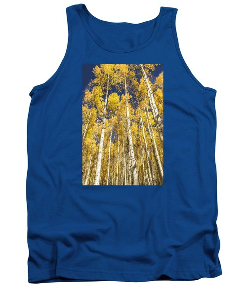Towering Aspens Tank Top by Phyllis Peterson