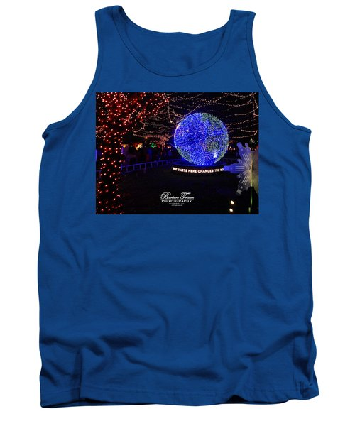Trail Of Lights World #7359 Tank Top by Barbara Tristan