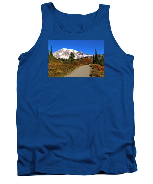 Tank Top featuring the photograph Trail To Myrtle Falls by Lynn Hopwood