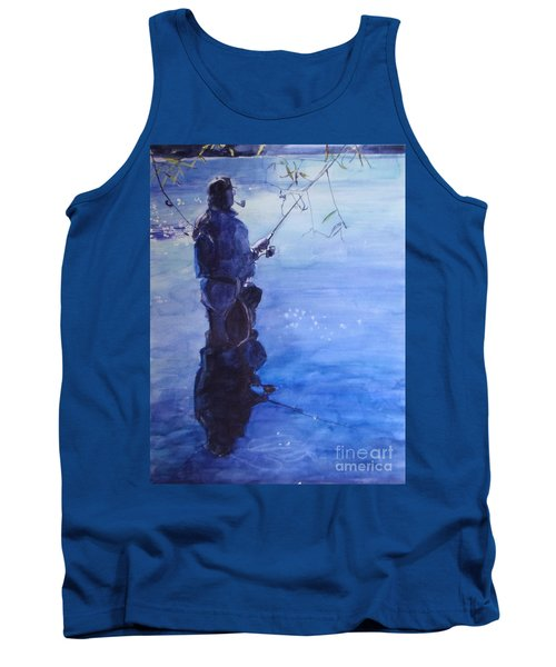 Watercolor Tranquil Fishing Tank Top