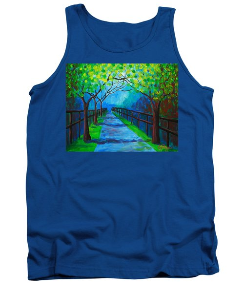 Tree Lined Fence Tank Top