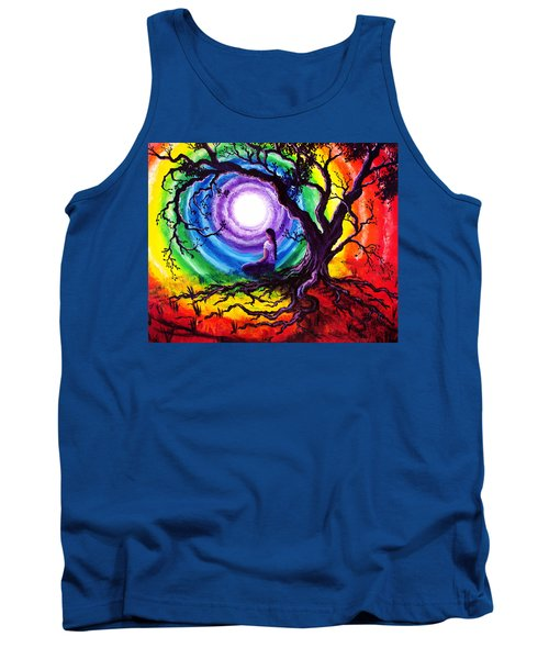 Tree Of Life Meditation Tank Top by Laura Iverson