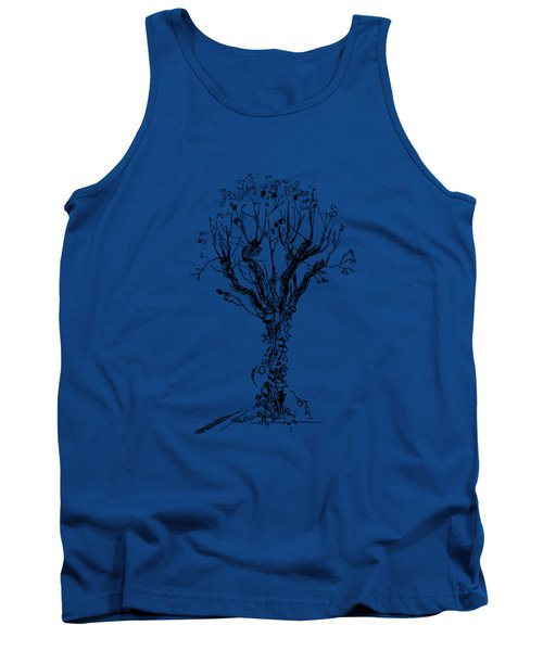 Tree With Bindweed Tank Top