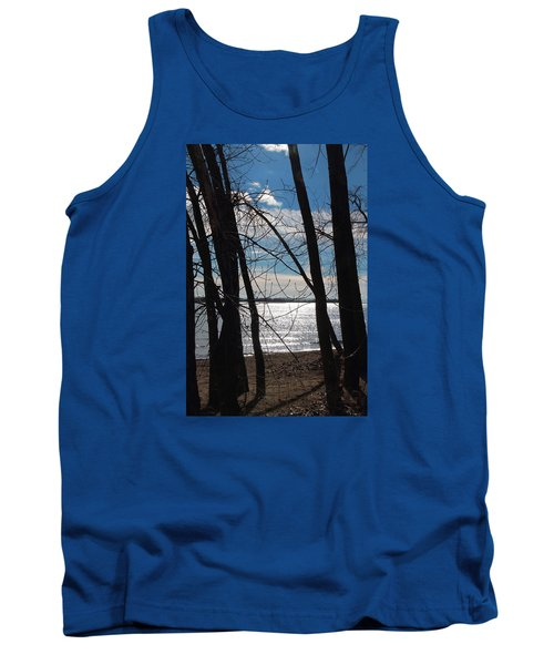 Tank Top featuring the photograph Trees And Lake Reflections by Valentino Visentini