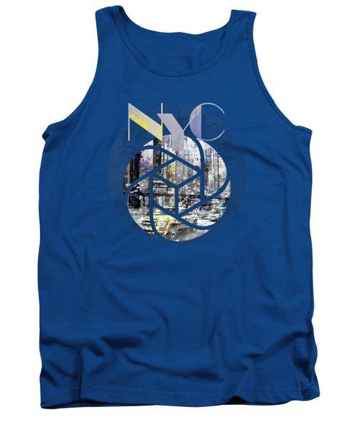 Trendy Design New York City Geometric Mix No 4 Tank Top