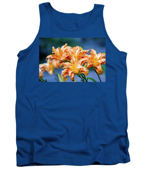 Tank Top featuring the photograph Triple Lilies by Linda Segerson