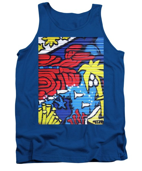 Tropical Graffiti Barcelona Tank Top