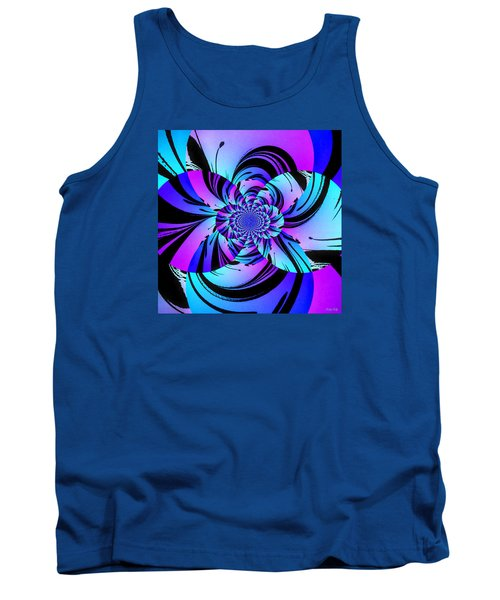 Tank Top featuring the digital art Tropical Transformation by Kathy Kelly