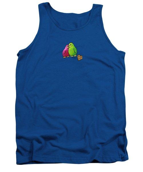 True Love Heart Tank Top by LimbBirds Whimsical Birds