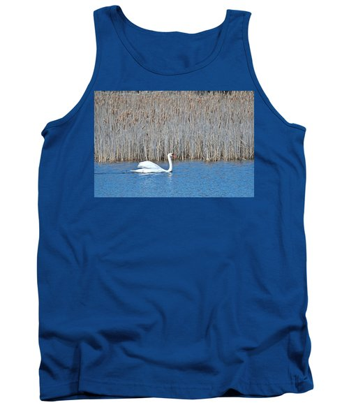 Tank Top featuring the photograph Trumpeter Swan 0967 by Michael Peychich