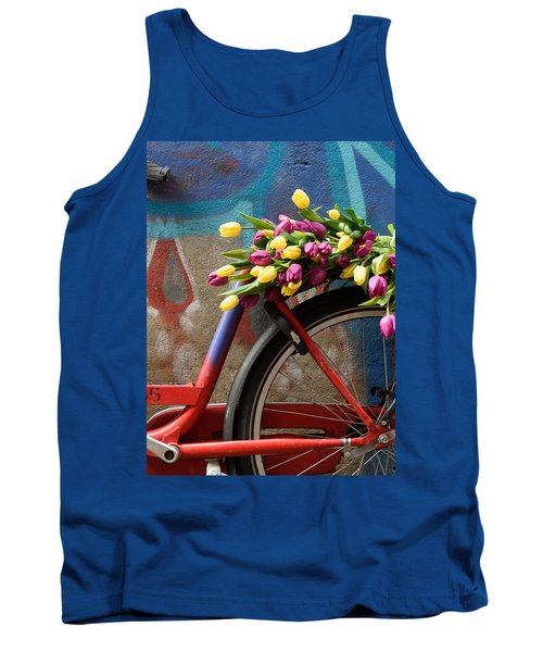Tulip Bike Tank Top by Phyllis Peterson
