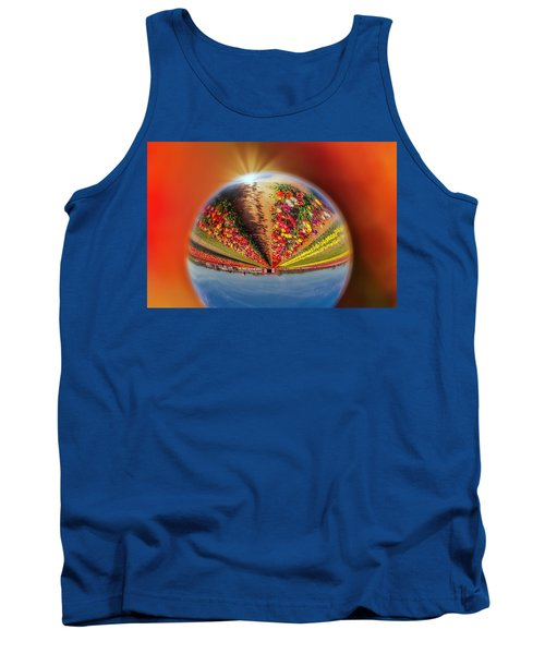 Tank Top featuring the photograph Tulip Farm Reflections And Refractions by Susan Candelario