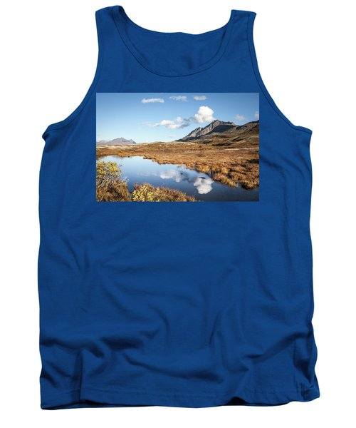 Tundra Pond Reflections In Fall Tank Top