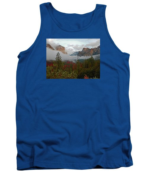Tank Top featuring the photograph Tunnel View 12 2016 by Walter Fahmy