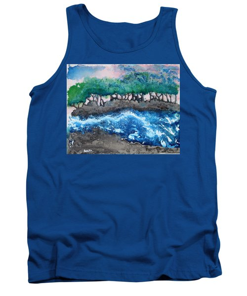 Tank Top featuring the painting Turbulent Waters by Antonio Romero