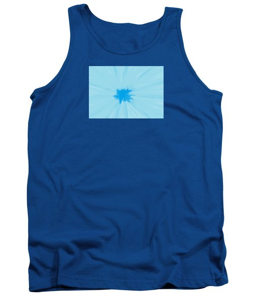 Turquoise Flower Abstract Tank Top by Linda Velasquez