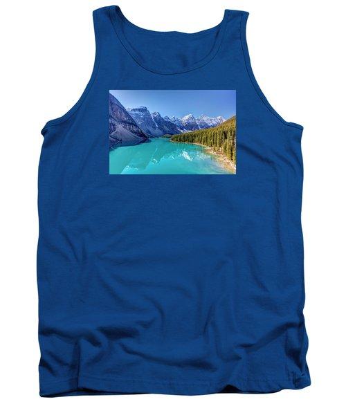 Turquoise Splendor Moraine Lake Tank Top by Pierre Leclerc Photography