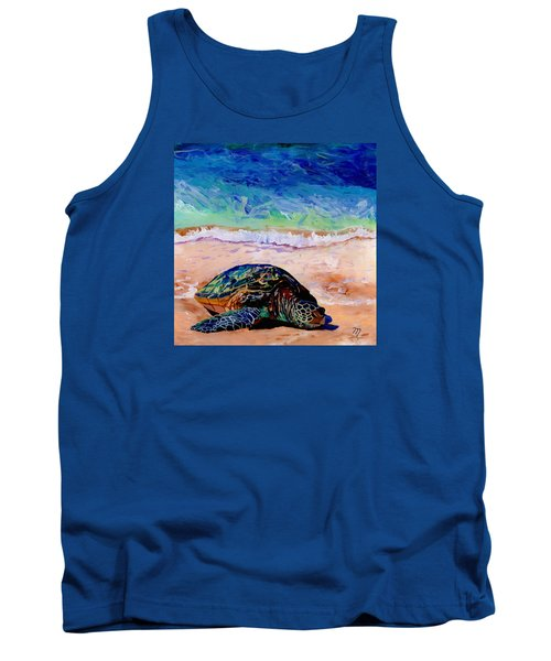 Turtle At Poipu Beach 9 Tank Top by Marionette Taboniar