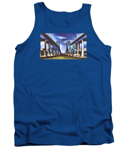 Twin Spanned Arched Tank Top by Jim Lepard