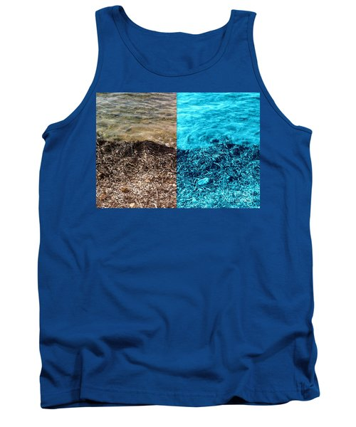 Two Tone Marine Tank Top