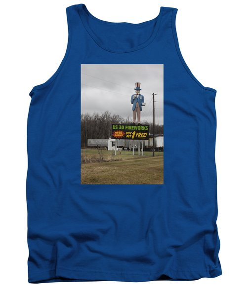 Uncle Sams Fireworks Tank Top