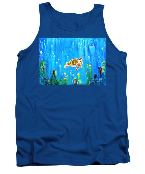 Underwater Magic 5-happy Turtle Tank Top